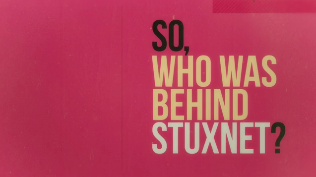 Stuxnet animated typography